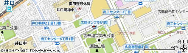広島サンプラザ西周辺の地図