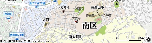 大教寺周辺の地図