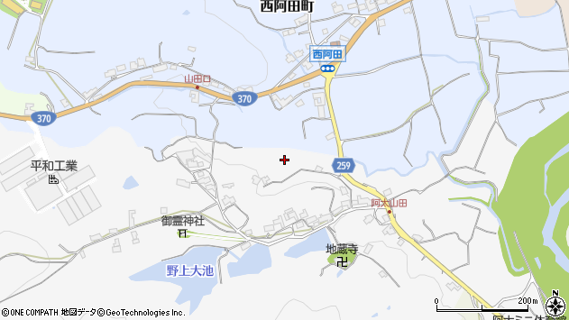 〒637-0029 奈良県五條市山田町の地図