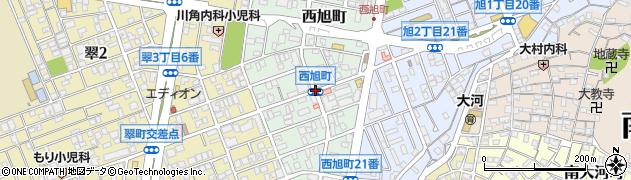 西旭町周辺の地図