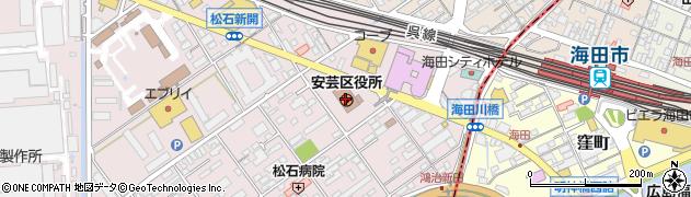 広島県広島市安芸区周辺の地図