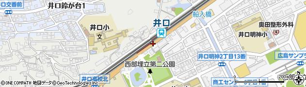 井口電停前周辺の地図