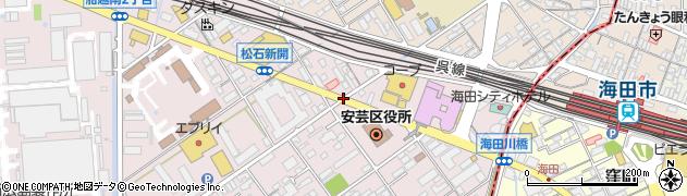 区役所(西)周辺の地図
