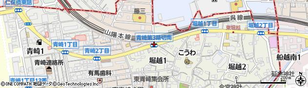 青崎第3踏切南周辺の地図