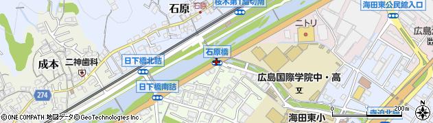 石原橋周辺の地図