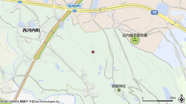 〒637-0001 奈良県五條市西河内町の地図