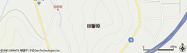 島根県吉賀町(鹿足郡)田野原周辺の地図