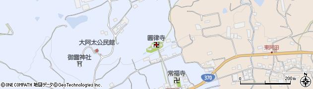 大本山行圓律寺周辺の地図