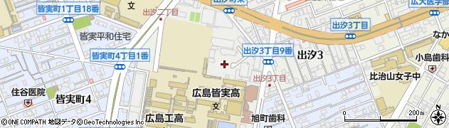 広島県広島市南区出汐周辺の地図