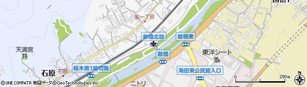 畝橋北詰周辺の地図