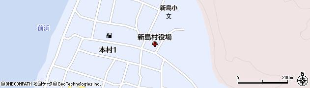 東京都新島村周辺の地図