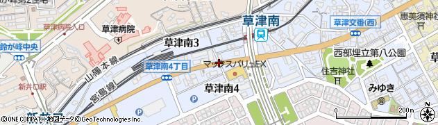 草津南3‐4周辺の地図