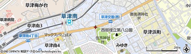 草津南1‐6周辺の地図