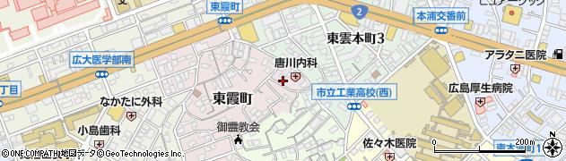 広島県広島市南区東霞町周辺の地図