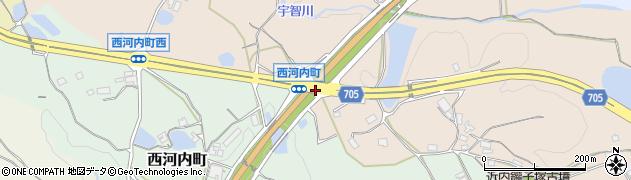 西河内町周辺の地図