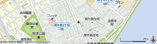 庚午交番前周辺の地図