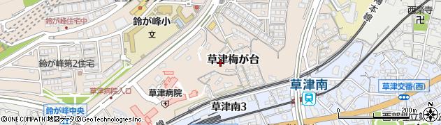 広島県広島市西区草津梅が台周辺の地図