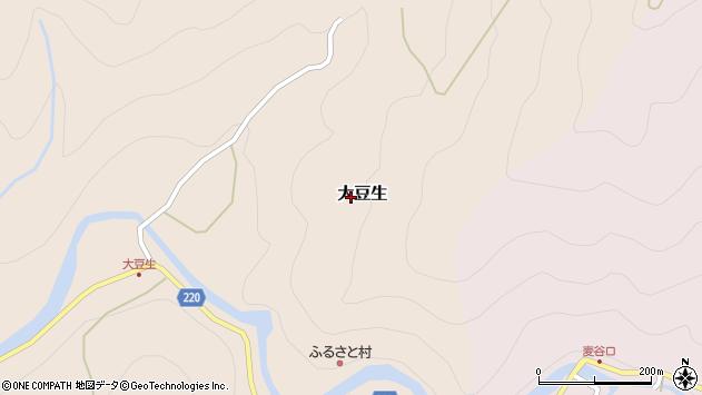 〒633-2442 奈良県吉野郡東吉野村大豆生の地図