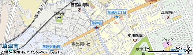 草津橋周辺の地図