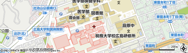 広島県広島市南区霞周辺の地図