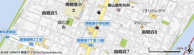 南観音小前周辺の地図