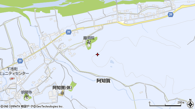 〒638-0001 奈良県吉野郡下市町阿知賀の地図