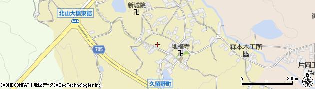 奈良県五條市久留野町周辺の地図
