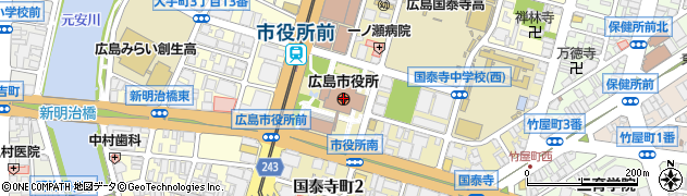 広島市周辺の地図