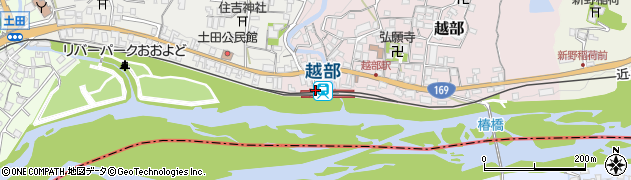奈良県吉野郡大淀町周辺の地図