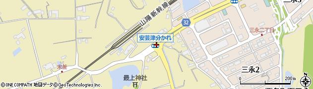安芸津分かれ周辺の地図