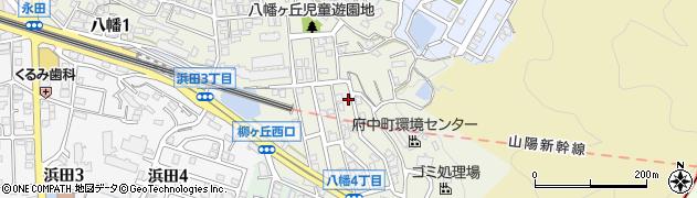 広島県安芸郡府中町八幡周辺の地図