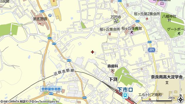 〒638-0821 奈良県吉野郡大淀町下渕の地図