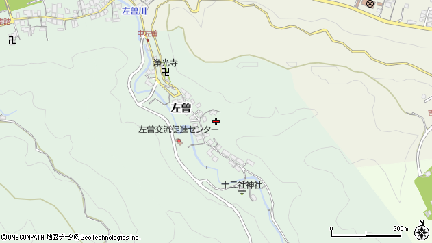 〒639-3117 奈良県吉野郡吉野町左曽の地図