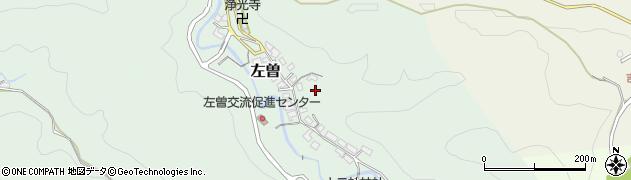 奈良県吉野町(吉野郡)左曽周辺の地図