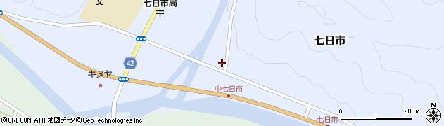 島根県吉賀町(鹿足郡)七日市(横立)周辺の地図