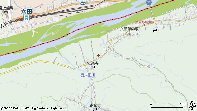 〒639-3116 奈良県吉野郡吉野町六田の地図