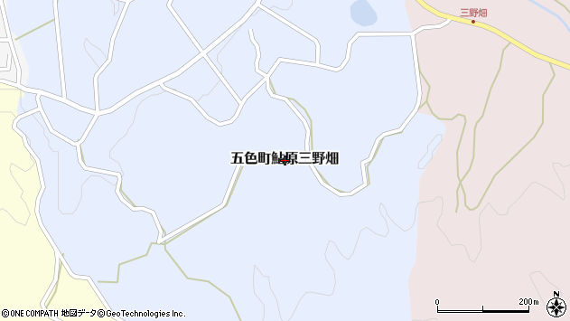 〒656-1324 兵庫県洲本市五色町鮎原三野畑の地図
