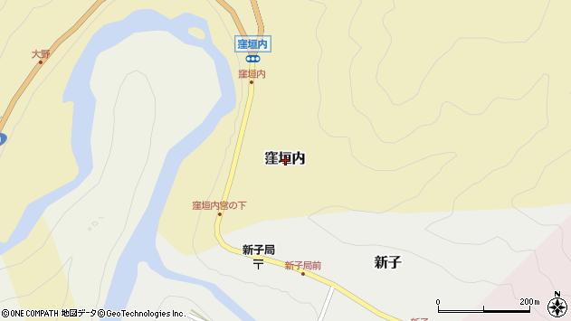 〒639-3432 奈良県吉野郡吉野町窪垣内の地図