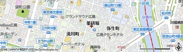 広島県広島市中区薬研堀周辺の地図