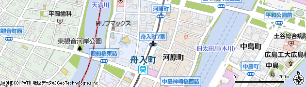 舟入町7番周辺の地図