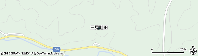 山口県萩市三見(三見畦田)周辺の地図