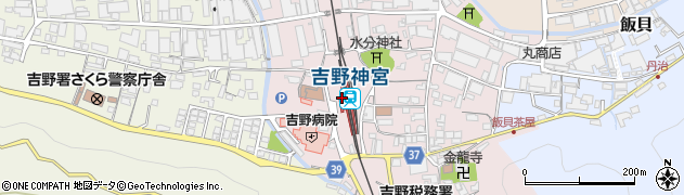 奈良県吉野郡吉野町周辺の地図