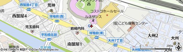 広島県広島市南区南蟹屋周辺の地図
