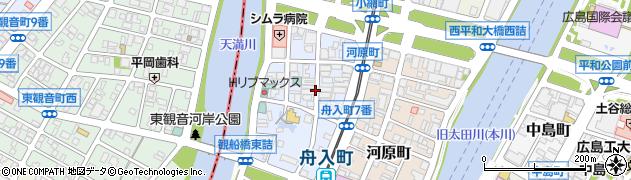 広島県広島市中区舟入町周辺の地図