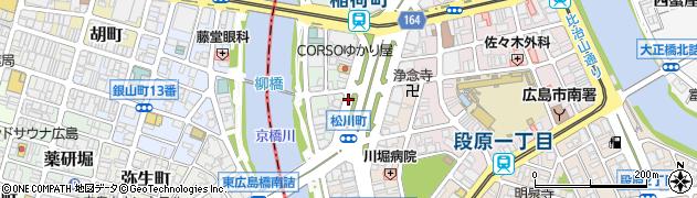 広島県広島市南区稲荷町周辺の地図