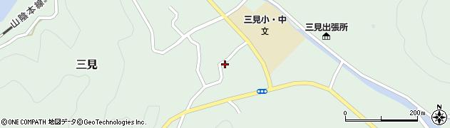 山口県萩市三見(三見蔵本)周辺の地図