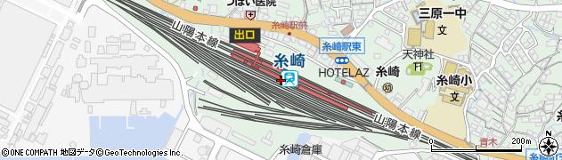 広島県三原市周辺の地図