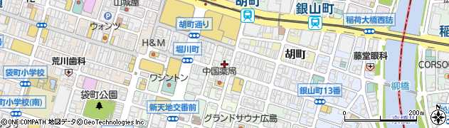 広島県広島市中区堀川町周辺の地図