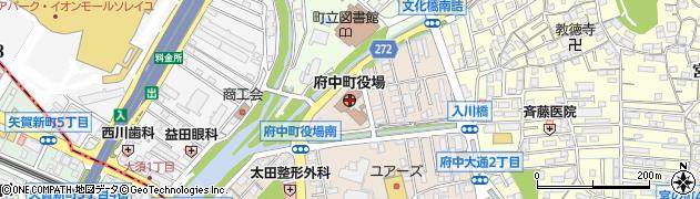 広島県安芸郡府中町周辺の地図