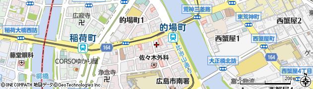 広島県広島市南区的場町周辺の地図
